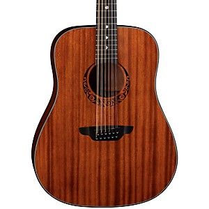 Luna Guitars Gypsy 12 String Dreadnought Mahogany Acoustic Guitar