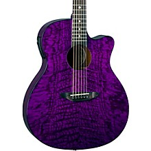 Gypsy Grand Concert Ash Acoustic-Electric Guitar Transparent Purple