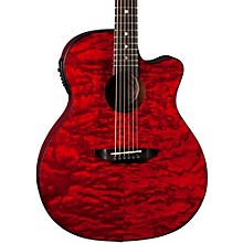 Gypsy Grand Concert Ash Acoustic-Electric Guitar Transparent Red