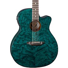 Gypsy Grand Concert Ash Acoustic-Electric Guitar Transparent Teal