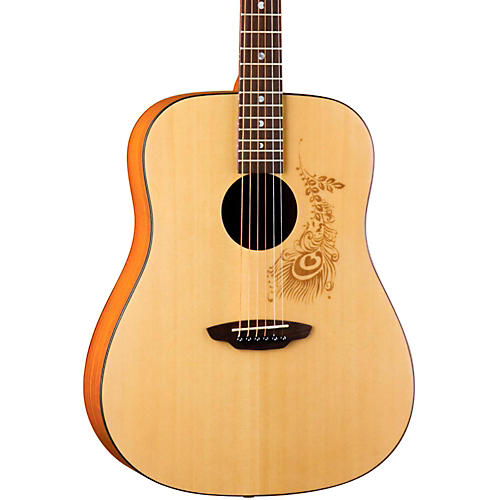 Luna Guitars Gypsy Henna Dreadnought Acoustic Guitar