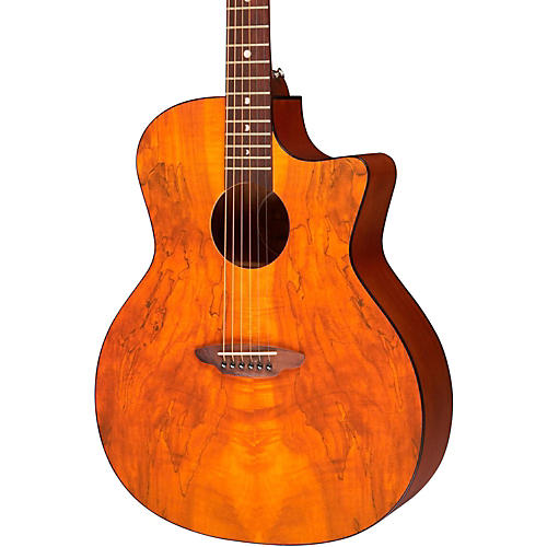 Luna Guitars Gypsy Spalt Grand Concert Acoustic Guitar-thumbnail