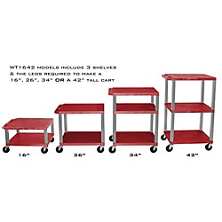 H. Wilson Adjustable-Height Open Shelf Tuffy Cart (WT1642RE-N)