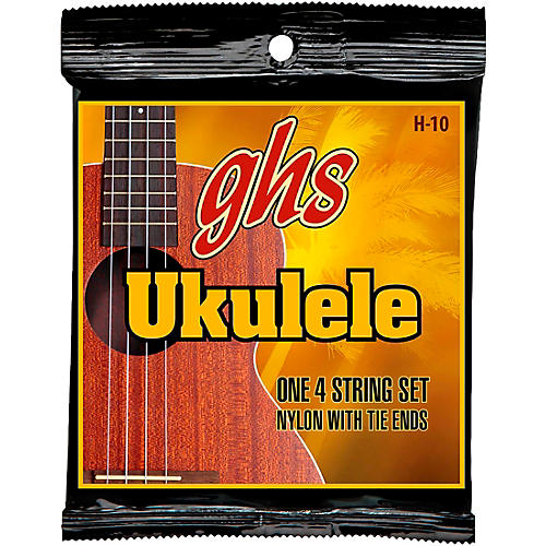 GHS H-10  Hawaiian Ukulele Black Nylon Strings-thumbnail