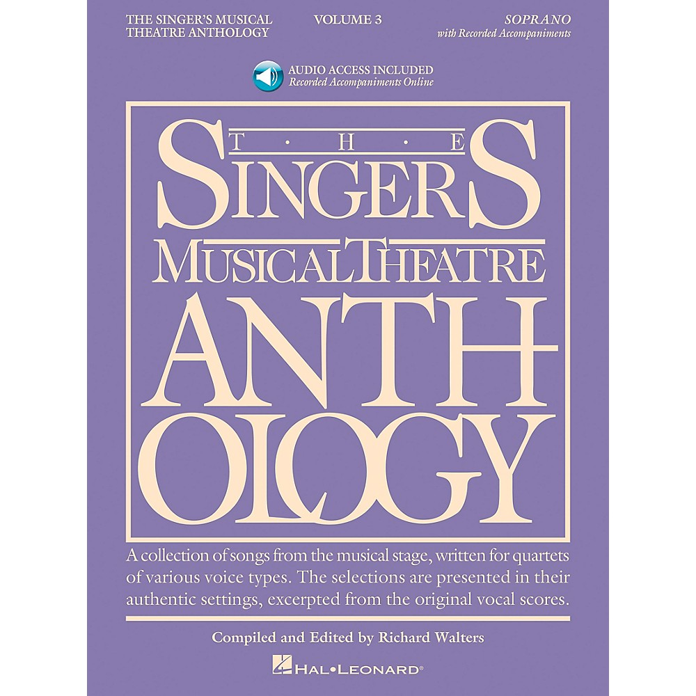 Singer's Musical Theatre Anthology For Soprano Vol. 3 [Book/Cd] 1279141556405