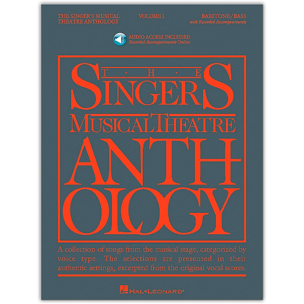 Singer's Musical Theatre Anthology For Barit1 / Bass Vol. 1 [Book/Cd] 1279141556540