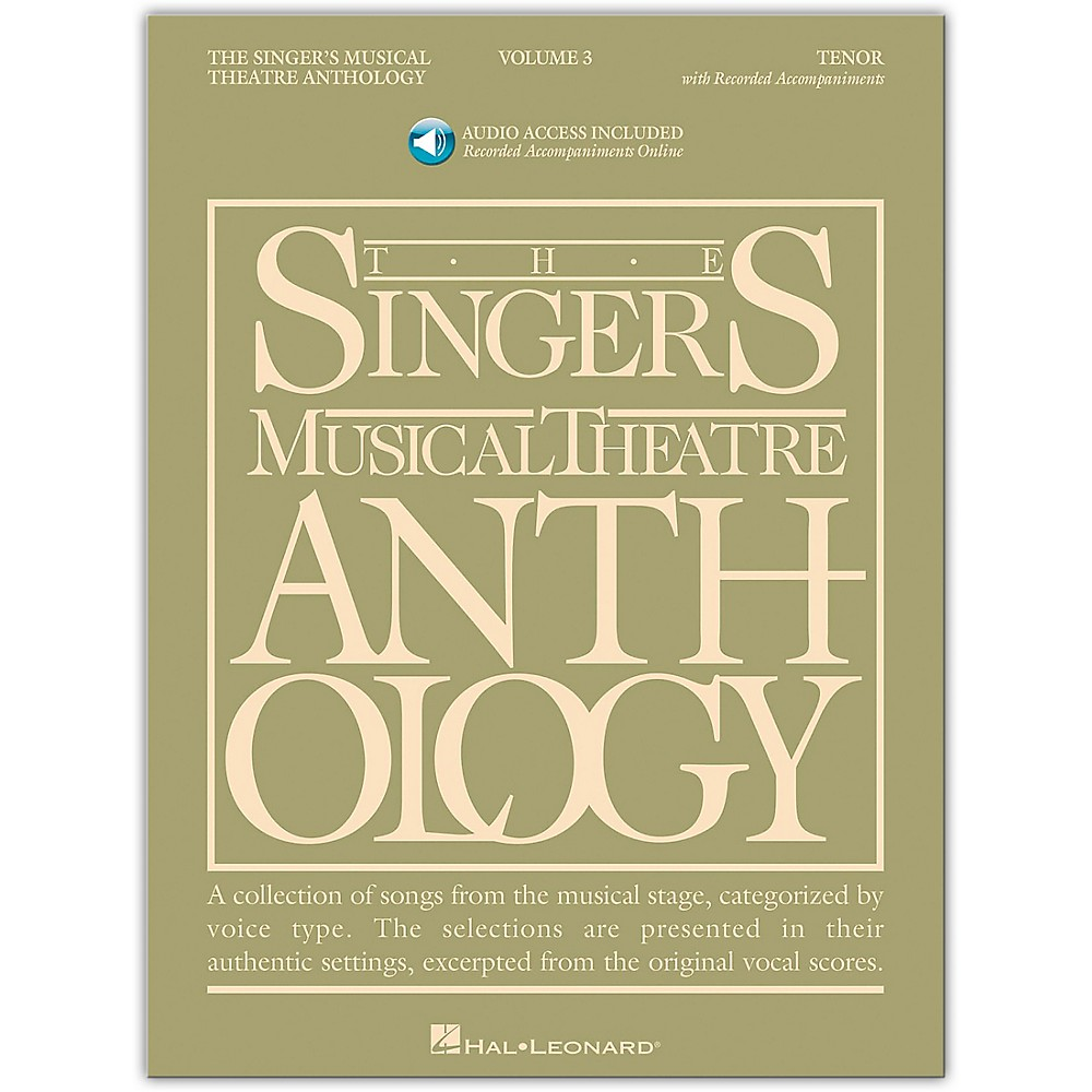 Singer's Musical Theatre Anthology For Tenor Voice Vol. 3 [Book/Cd] 1279141556592