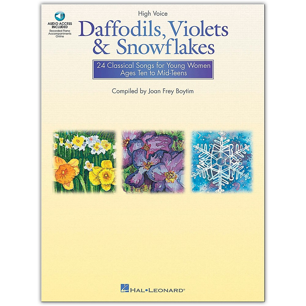 Hal Leonard Daffodils, Violets And Snowflakes For High Voice (Book/Online Audio) 1279141556755