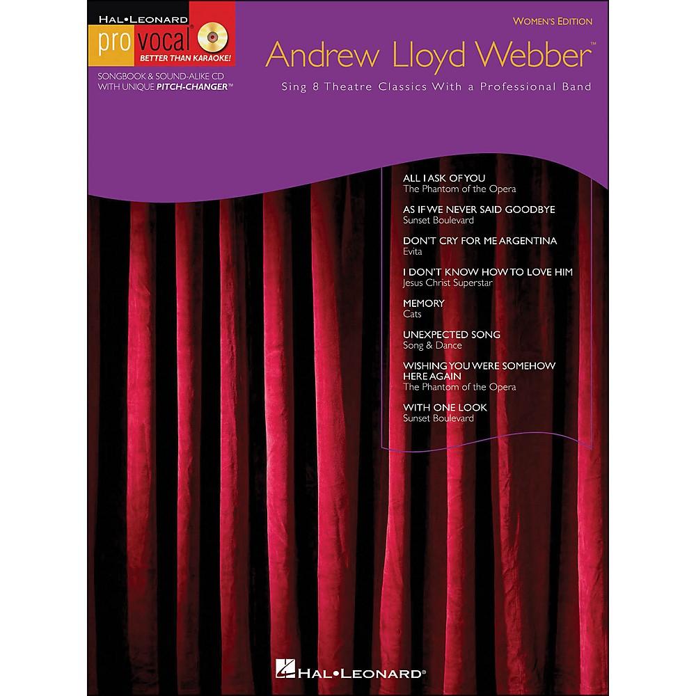 Andrew Lloyd Webber Pro Vocal Series Women's Edition Vol. 10 [Book/Cd] 1281539725990