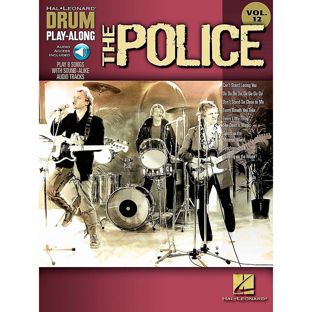 Hal Leonard The Police Drum Play-Along Volume 12 Book/Cd 1283462206744