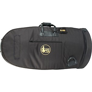 Gard Mid-Suspension Kaiser Tuba Gig Bag 65-Mlk Black Ultra Leather