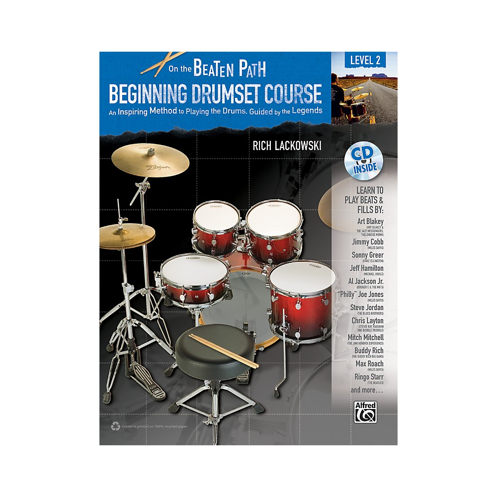 Alfred On the Beaten Path Beginning Drumset Course Level 2 Book & CD 1288217329892