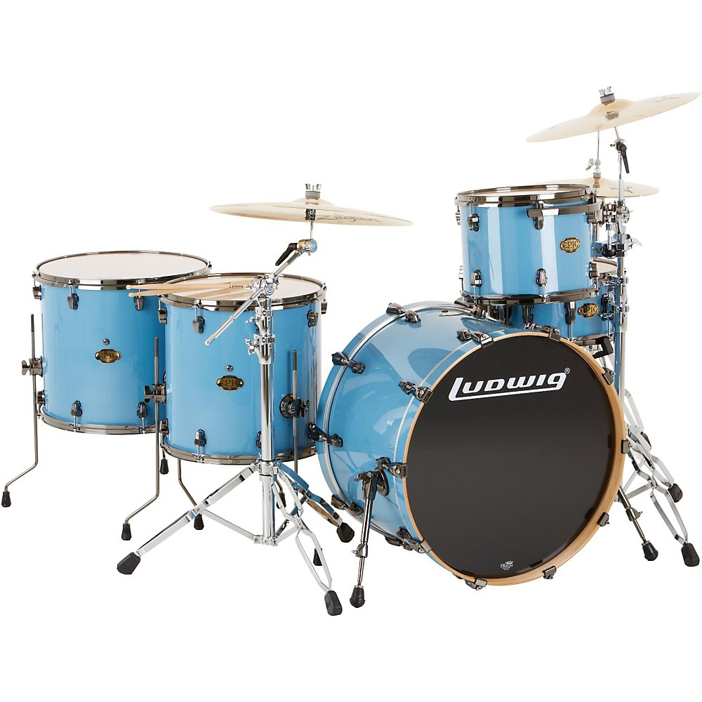 Ludwig Epic Pro Beat 5-Piece Shell Pack Celestial Blue 1302015359852