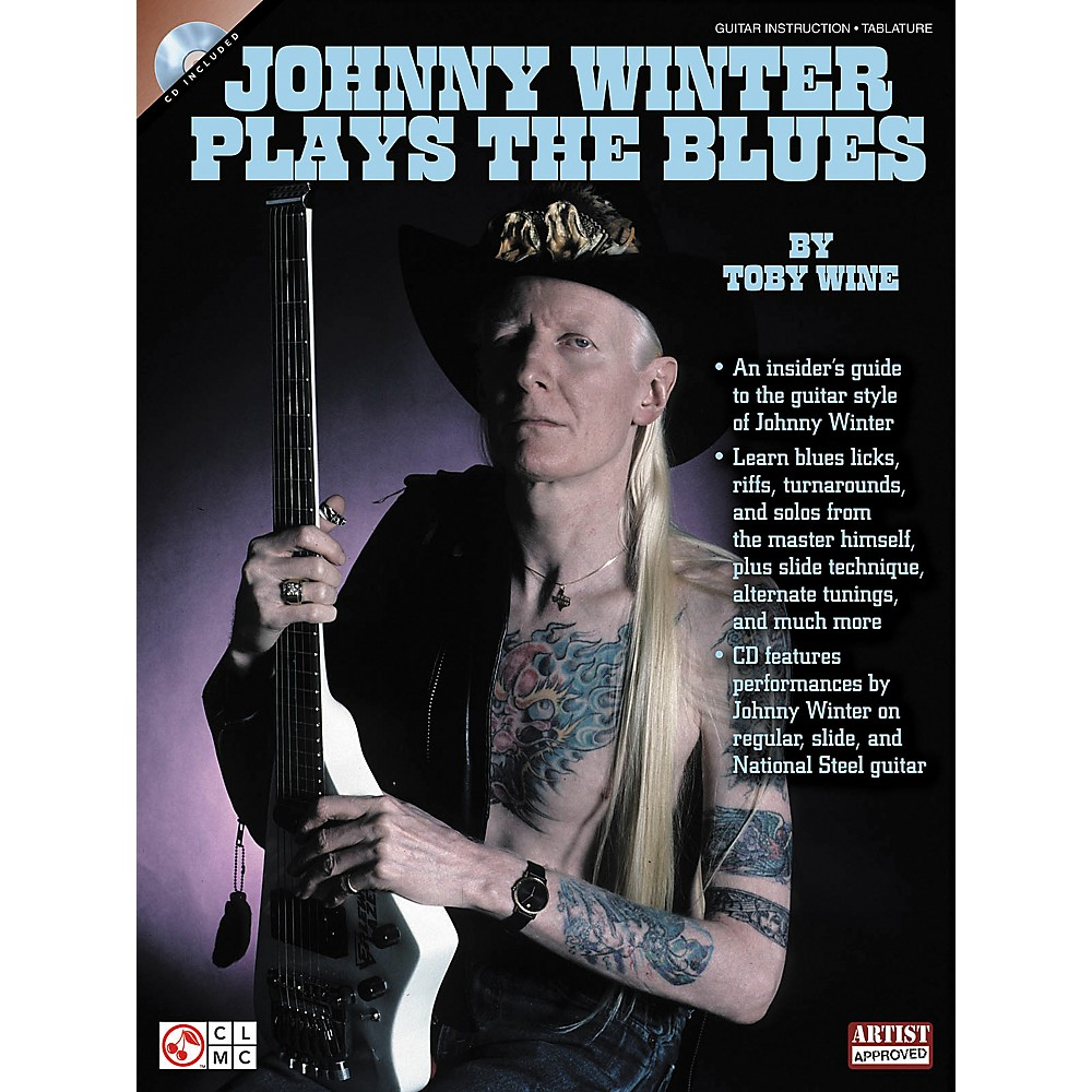 Cherry Lane Johnny Winter Plays The Blues (Book/Cd) 1309565842296