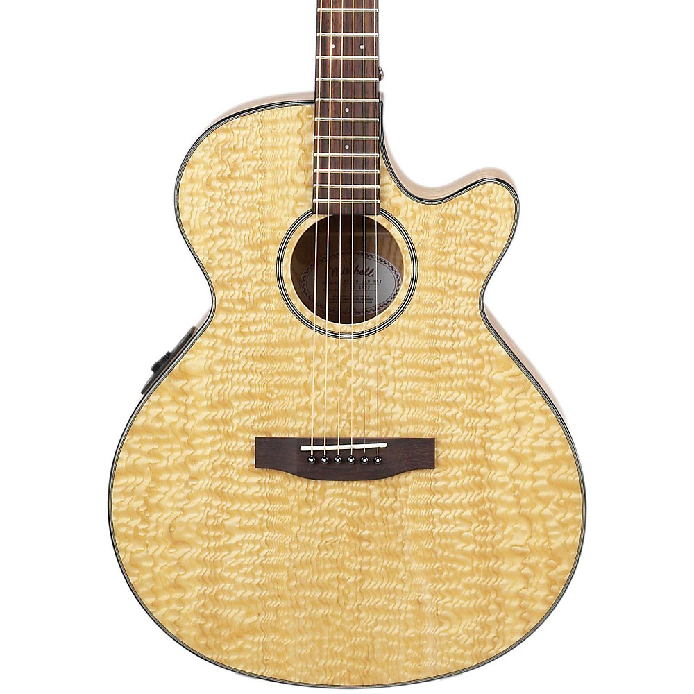 Mitchell MX400 Exotic Wood Acoustic-Electric guitar Quilted Ash Burl 1321990087183