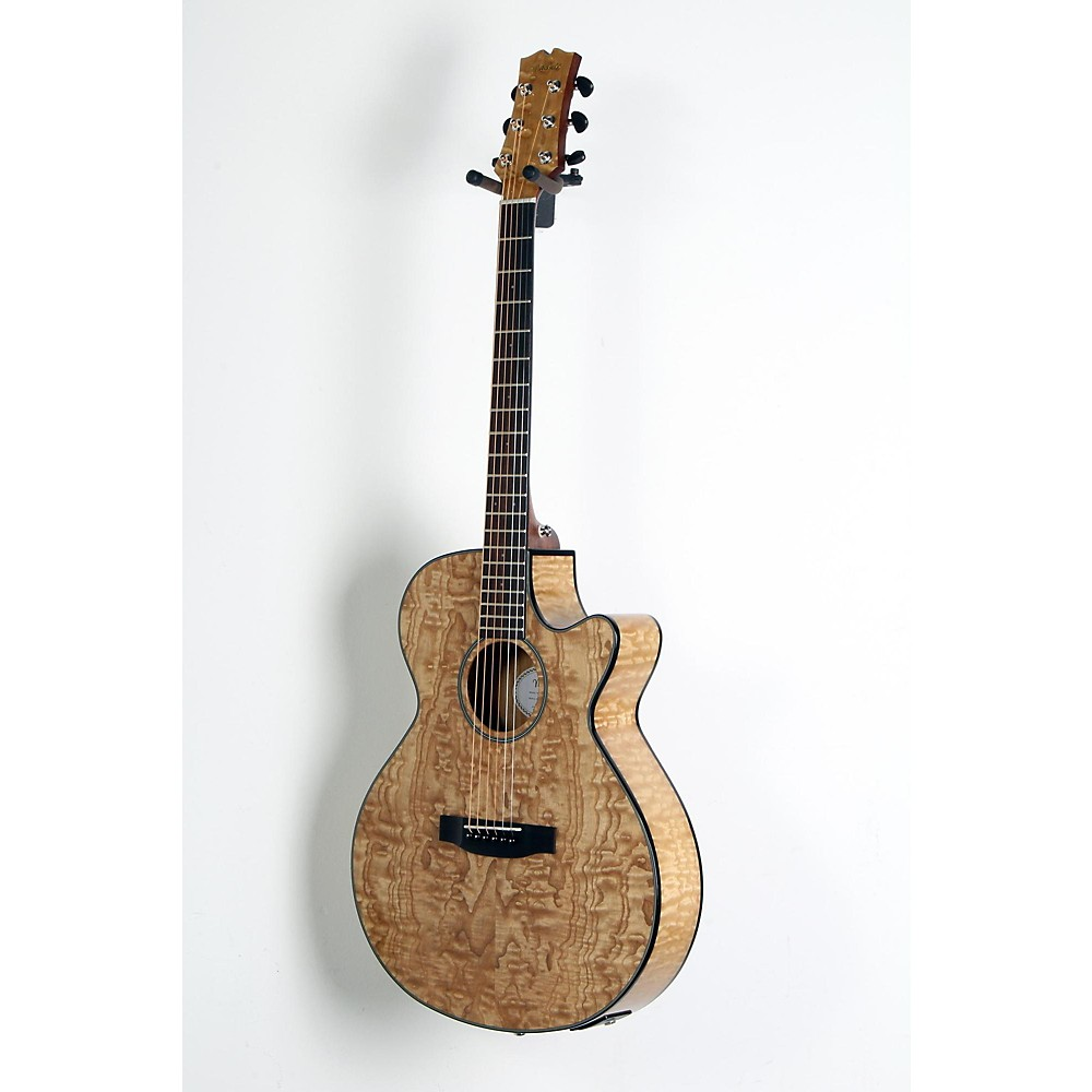 Mitchell MX400 Exotic Wood Acoustic-Electric guitar Quilted Ash Burl 888365997056 H79193005002005
