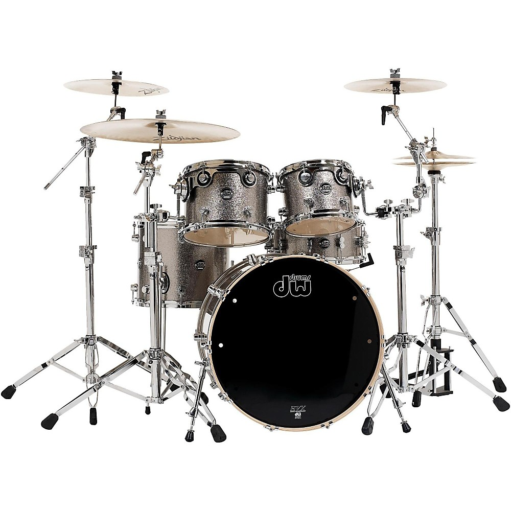 Dw Performance Series 5-Piece Shell Pack Titanium Sparkle Finish With Chrome Hardware