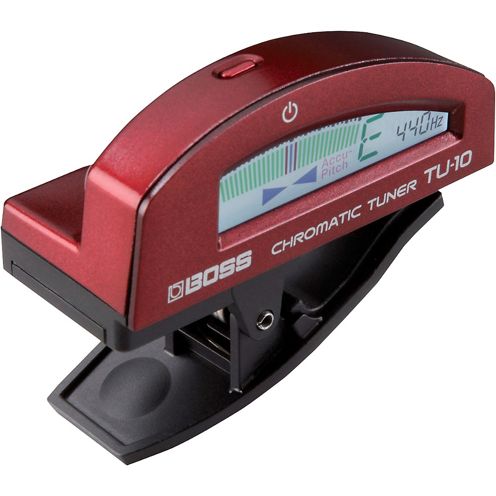 Boss Tu-10 Clip-On Chromatic Tuner Red 1338824519524