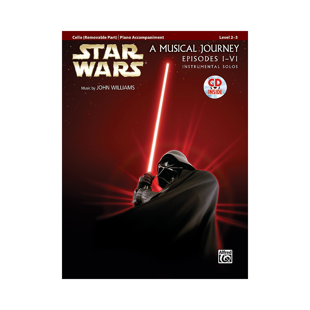 Alfred Star Wars Instrumental Solos for Strings (Movies I-VI) Cello Book & CD 1333980493030