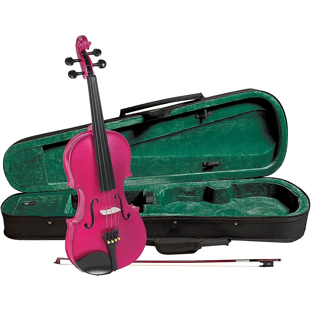 Cremona Sv-75Rs Premier Novice Series Sparkling Rose Violin Outfit 1/2 Outfit 1337009671882