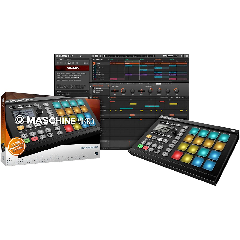 Native Instruments Maschine Mikro MK2 Black 1341326581456