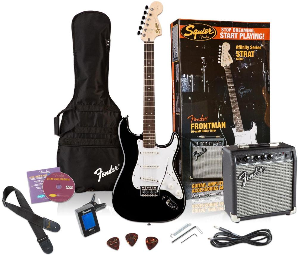 affinity stratocaster electric guitar pack w 10g amplifier ebay. Black Bedroom Furniture Sets. Home Design Ideas