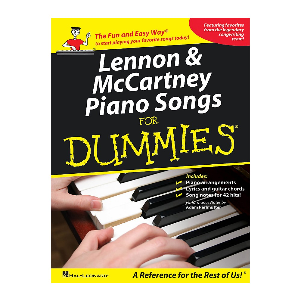 Hal Leonard Lennon & Mccartney Piano Songs For Dummies