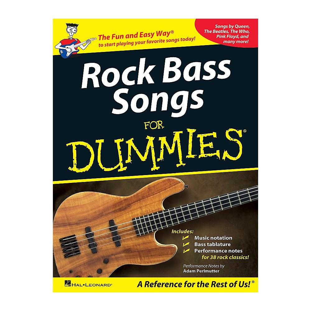 Hal Leonard Rock Bass Songs For Dummies