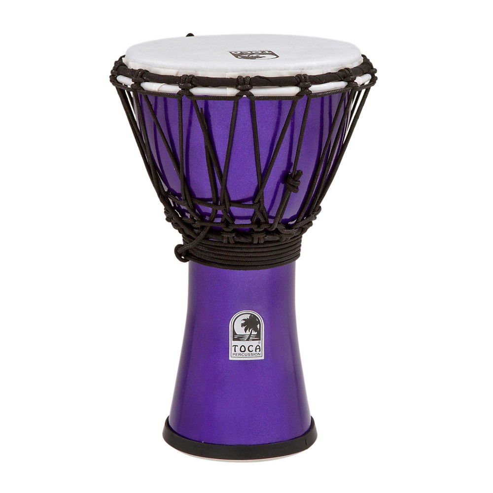 Toca Freestyle Colorsound Djembe Metallic Indigo 7 Inch