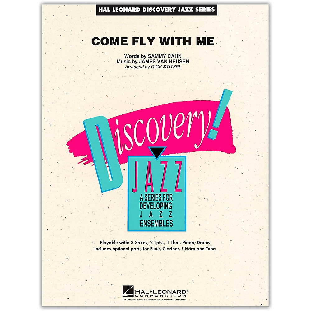 Hal Leonard Come Fly With Me - Discovery Jazz Series Level 1.5 Book/Online Audio 1346078181210