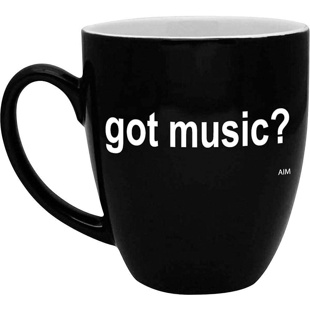AIM Got Music? Black and White Bistro Coffee Mug 1346078183475