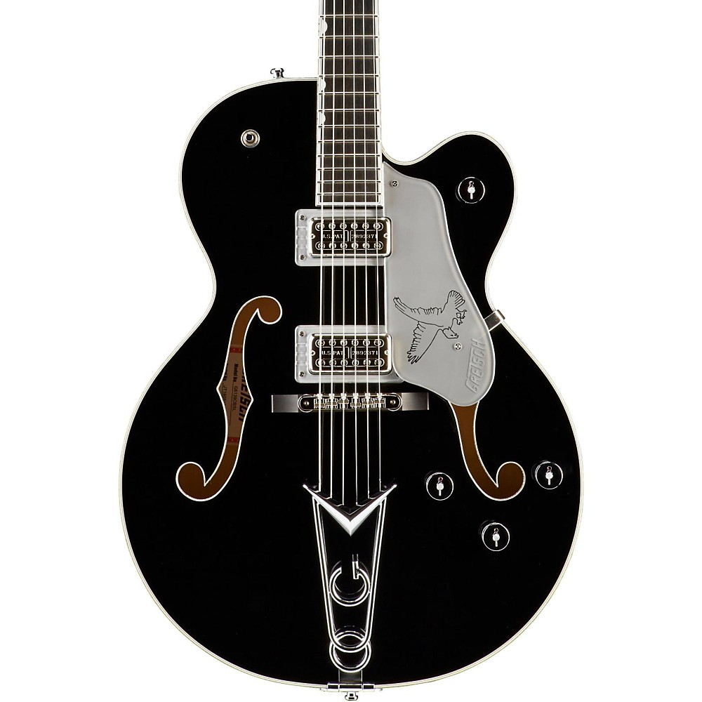 Gretsch Guitars G6139-Cbsl Silver Falcon Center Block Black With Silver Sparkle Binding 1357577843326