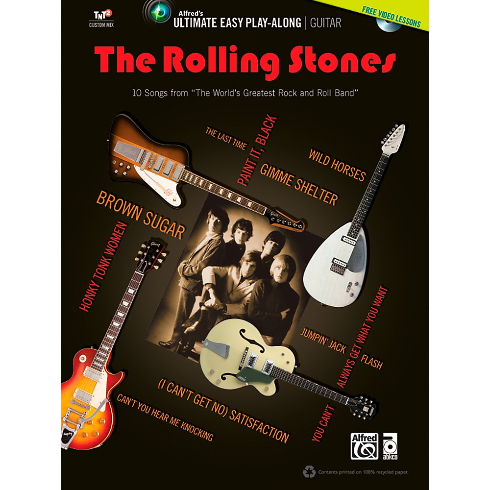 Alfred The Rolling Stones - Ultimate Easy Guitar Play-Along (Book & DVD) 1358786586518
