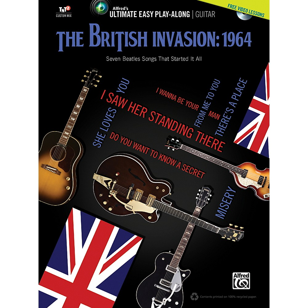 Alfred The British Invasion 1964 Ultimate Easy Guitar Play-Along (Book & DVD) 1358786586522