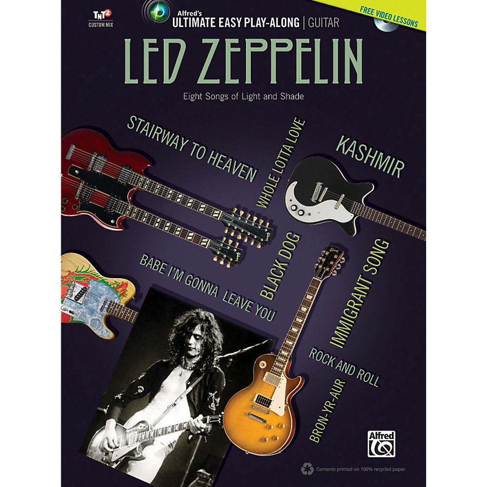 Alfred Led Zeppelin Ultimate Easy Guitar Play-Along (Book & Dvd) 1358786586542