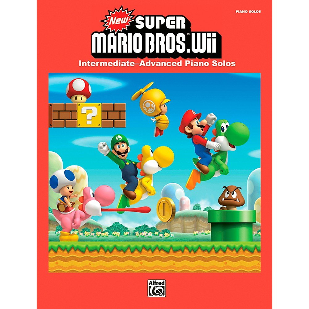 Alfred New Super Mario Bros. Wii Piano Book
