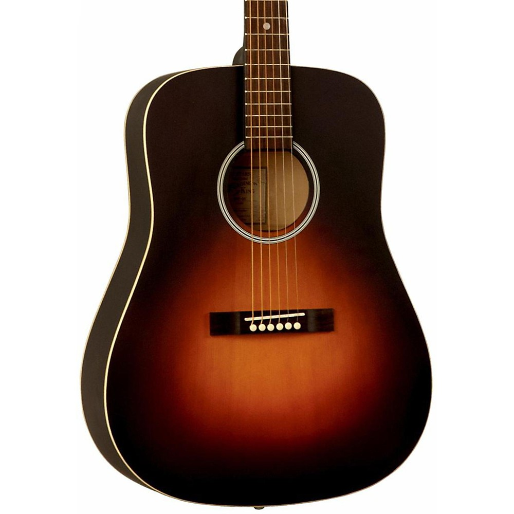 Recording King Dirty Thirties Dreadnought Solid Top Satin Sunburst 1361202707782