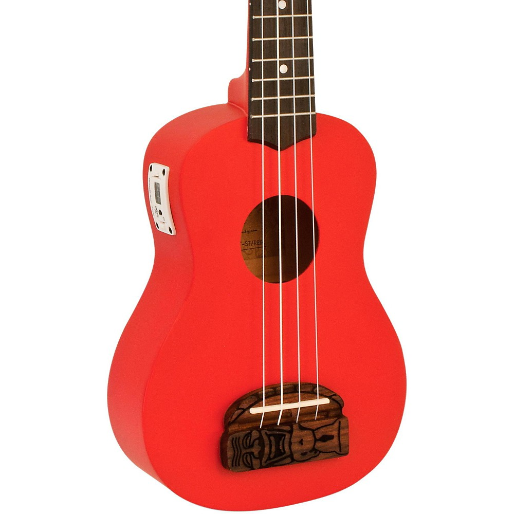Kohala Tiki Soprano Ukulele With Tuner Red