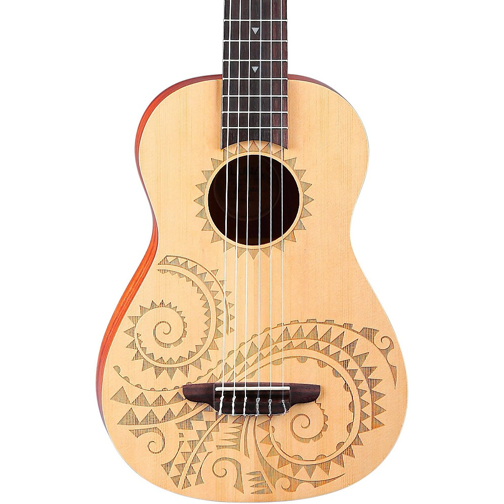 Luna Guitars 6-String Baritone Ukulele Tattoo 1365435330648