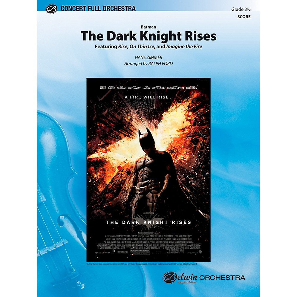Alfred Batman: The Dark Knight Rises Concert Full Orchestra Grade 3.5 Set 1366643218112