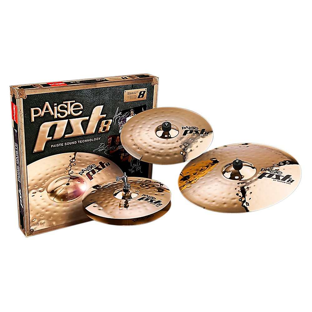 Paiste Pst 8 Reflector Universal Set 14, 16 And 20 In. 1369150601405
