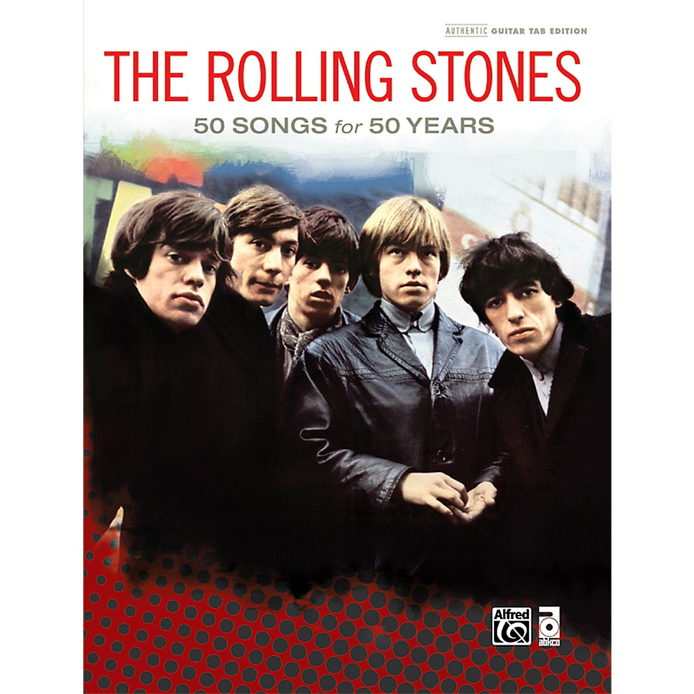 Alfred The Rolling Stones 50 Songs For 50 Years Hardcover Guitar Tab Book 1370873714590
