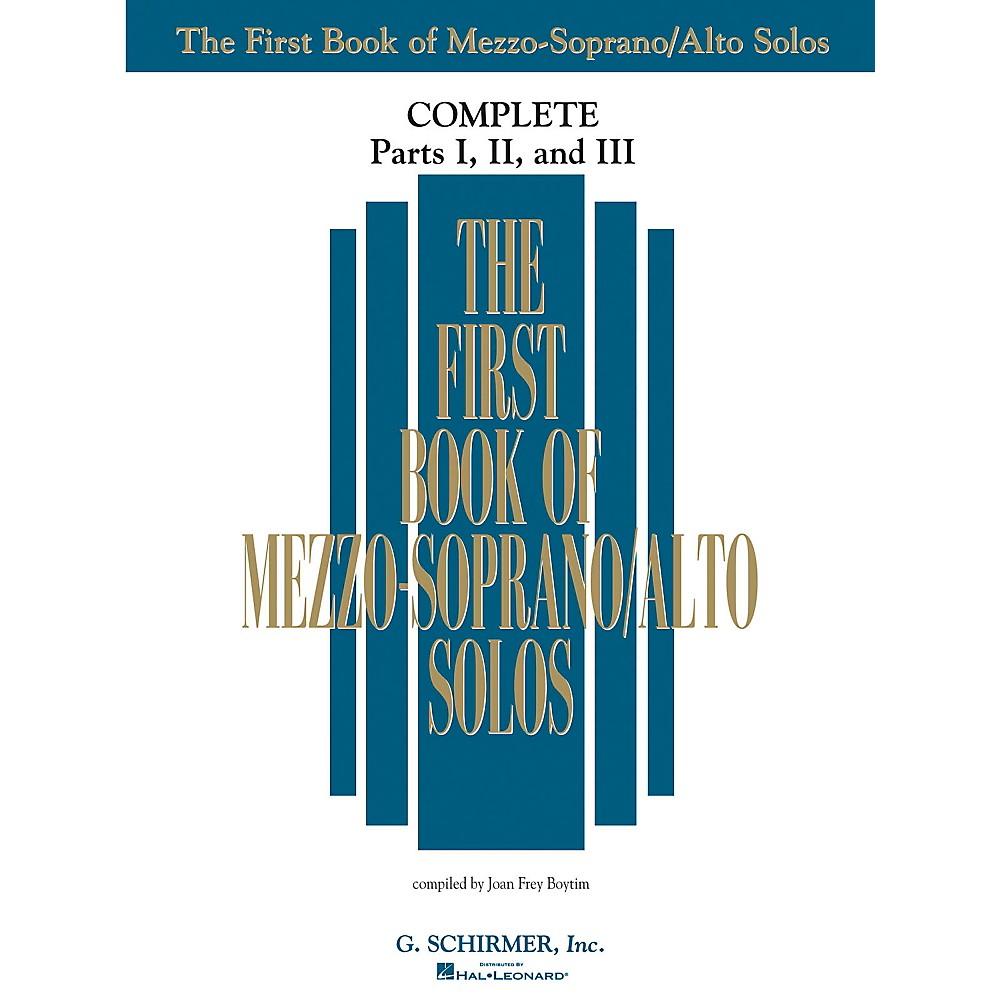G. Schirmer The First Book Of Mezzo-Soprano/Alto Solos Complete Parts 1, 2 and 3 1374244621223
