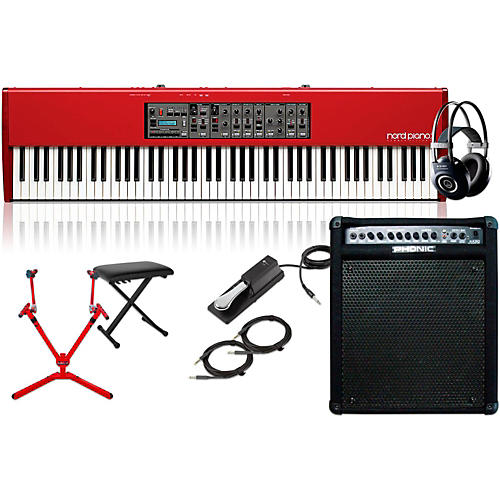 Nord HA88 88-Key with Keyboard Amplifier, Matching Stand, Headphones, Bench, and Sustain Pedal-thumbnail