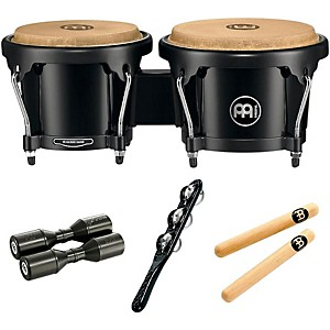 Meinl HB50 Bongo Set with Free Shaker and Claves by Meinl