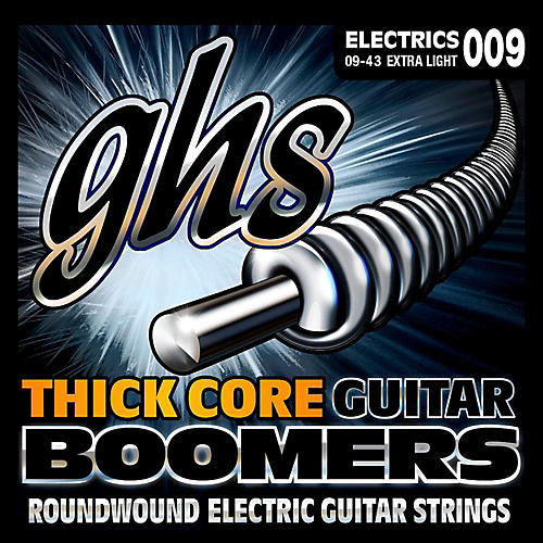 GHS HC-GBXL Thick Core Boomers Extra Light Electric Guitar Strings (9-43)-thumbnail