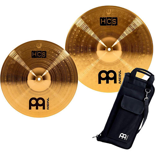 Meinl HCS-C2 Double Crash Pack with FREE Stick Bag-thumbnail
