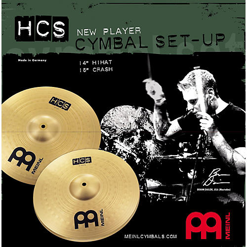 meinl hcs new player cymbal setup guitar center. Black Bedroom Furniture Sets. Home Design Ideas