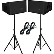 "Mackie HDA 12"" 2-Way Arrayable Powered Loudspeakers (Pair) Package"