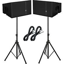 """Mackie HDA 12"""" 2-Way Arrayable Powered Loudspeakers (Pair) Package"""